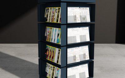 Tijdschriftenkast voor de inrichting van bibliotheken