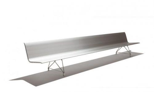 Aluminium zitbank Aero - voor wachtzalen